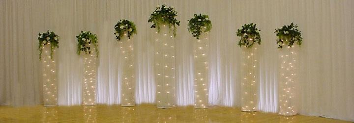 Wedding backdrops backgrounds decorations columns for Background decoration for wedding